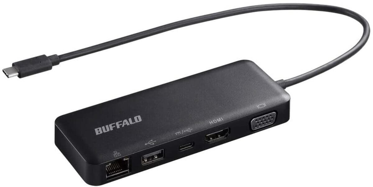 BUFFALO 5-in-1 ドッキングステーション LUD-U3-CGD/N PowerDelivery